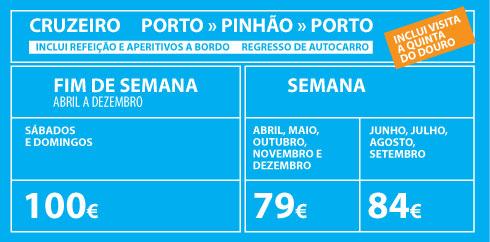 preços cruzeiro porto pinhão porto 2019